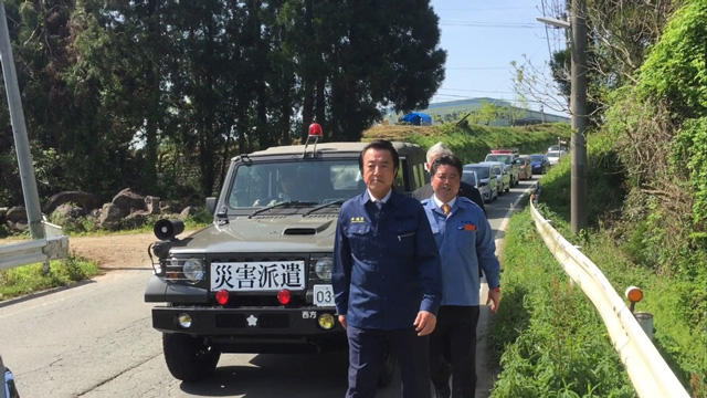 平成28年4月15日 熊本県視察の様子です