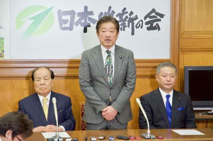 2019年1月15日(火)片山虎之助共同代表、馬場伸幸幹事長記者会見