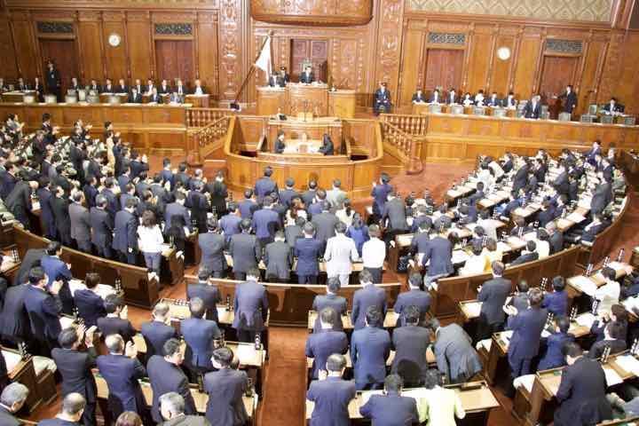 2019年3月12日(火)衆議院本会議にて警察法案並びに特定防衛調達特措法案、衆議院議決のお知らせ