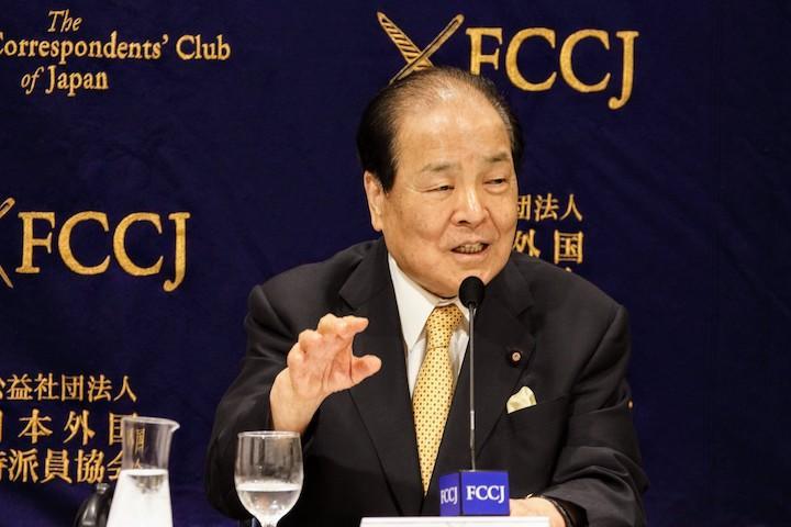 2019年7月16日(火)片山虎之助共同代表日本外国特派員協会記者会見